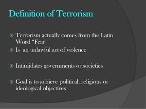 Blog Post - Terrorism Definition