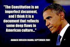 BLOG POST 1 - Obama on Constitution