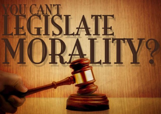 BLOG POST 1 - Legislate Morality