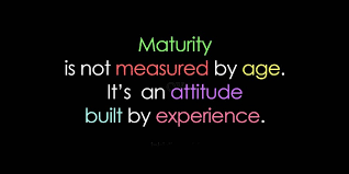 BLOG POST 3 - Maturity